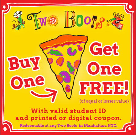 Two Boots Campus Clipper Coupon Booklet
